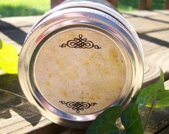 Vintage BLANK canning labels, round mason jar stickers, spice jar labels, jam jar label, jelly jar label