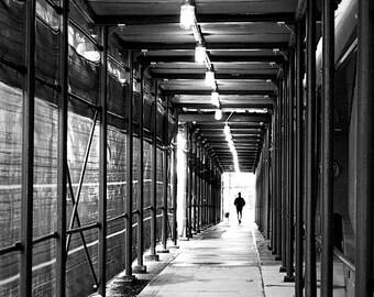 Walking Through, New York City Photography Print, NYC Black and White Wall Art