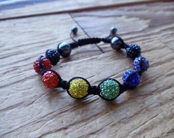 Rainbow PRIDE Macrame Bracelet