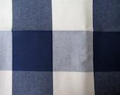 BUFFALO CHECK in Navy/cream multipurpose fabric