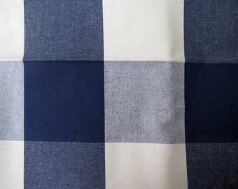BUFFALO CHECK in Navy/cream multipurpose fabric