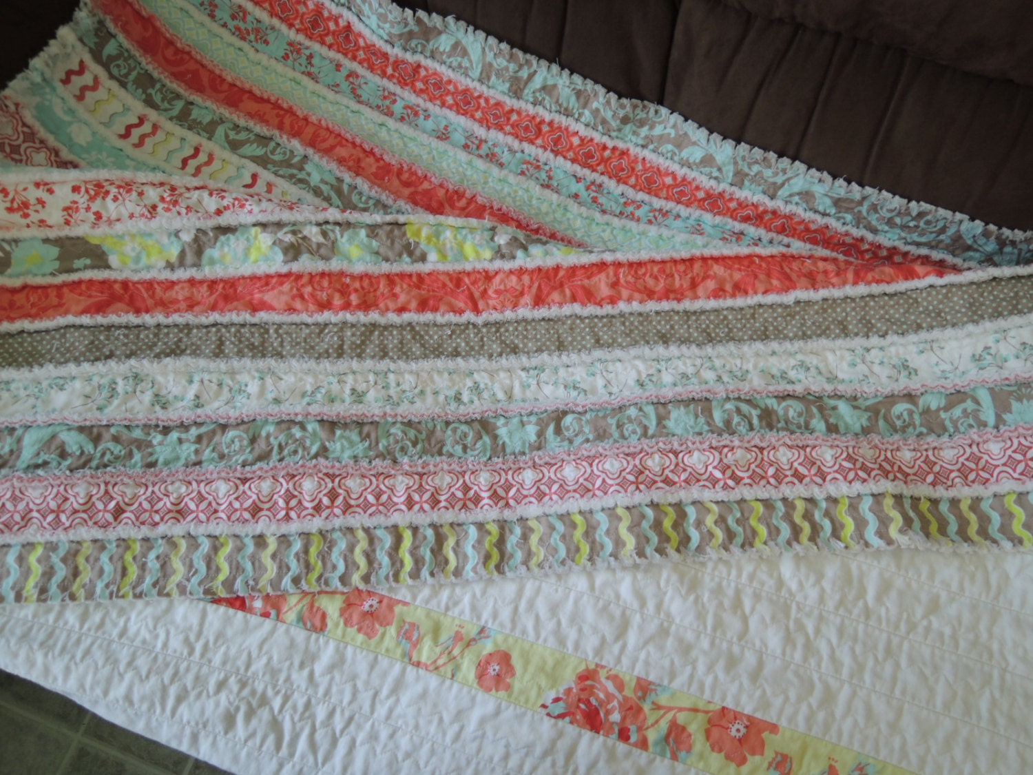 Jelly Roll Rag Quilt Pattern Tutorial Easy To Make Instant
