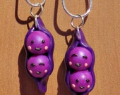 Two Peas in a Pod Bff Necklace Set - Purple Lovers/Bestfriends/Sisters Jewelry/Bff Charm/Bff Pendants/Handmade