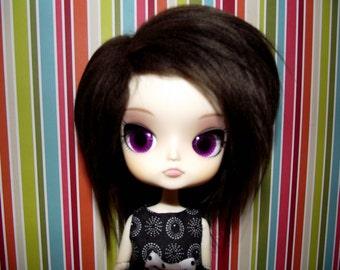 Dark chocolate brown faux fur wig for DAL