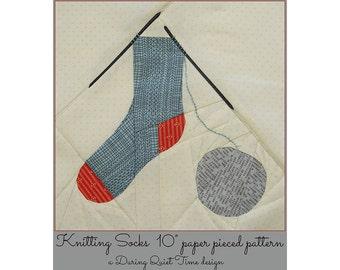 Knitting Socks Paper Pieced Pattern