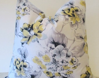 SALE Ships Today Two  18 x 18  Amy Butler  Paloma Collection Floral Fabric on both sides