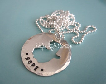 Hand Stamped adoption/mission Guatemala Necklace