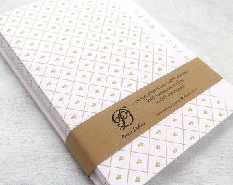 Letterpress Joyeux Noël Cards - Gold Fleur-de-Lis (Set of 6)