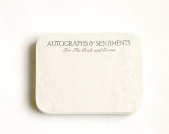 "125 ""Autographs & Sentiments"" Cards / Love Notes / Advice Cards"