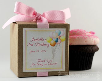 UP, UP, UP... One Dozen Personalized Cupcake Mix Party Favors for Birthdays, Baby Showers, and other sweet celebrations!