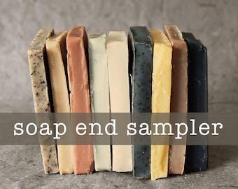 Soap End Sampler - All Natural Soap, Handmade Soap, Cold Process Soap, Unscented Soap