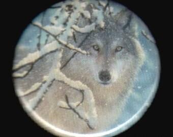 Lone Wolf 1.25 Inch Button