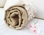 Handwoven Peshtemal Towel NATURAL Cotton Eco Friendly PESHTEMAL,High Quality,Turkish Cotton Bath,Beach,Spa,Yoga,Pool Towel