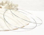 Large Sterling Silver Hoop Earrings, Lightweight and Minimalist