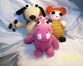 Crochet Hippa Hippa Hey dolls Bow Wow Sophie