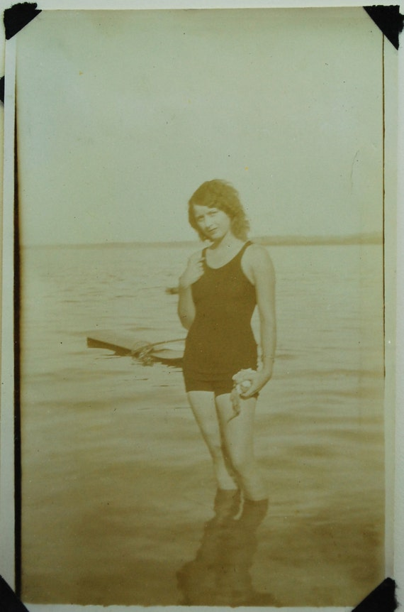 RESERVED for Miranda, Helen Swim Beauty, 1930 Original Photo, Collectible. Vintage Photo,Bathing Costume, Vintage, Collectible