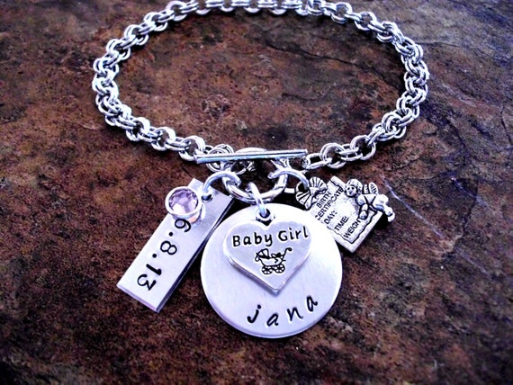 Items similar to New Baby Jewelry, Personalized Jewelry ...   Personalized Baby Jewelry For Girls