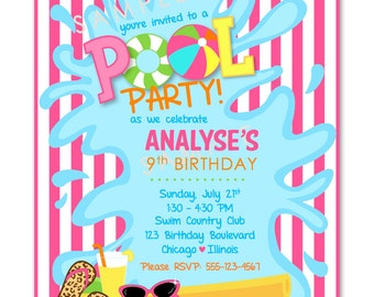 Pool Party Invitations (24)