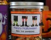 MonsterMunch - Halloween Popcorn - Personalized Jars - 4 Pack