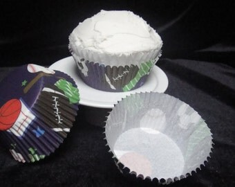 Sports Themed Cupcake Liners