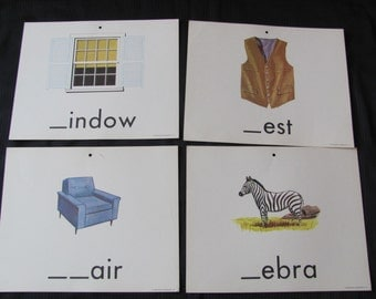 Old School Large Flash Card Poster - Consonants - Choice of Zebra Window Vest Chair