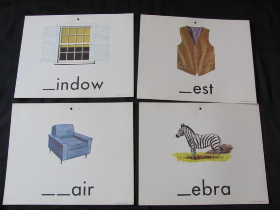Old School Large Flash Card Poster - Consonants - Choice of Zebra Window Vest Chair