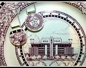 TEXAS A&M - Recycled Broken China Plate Jewelry - Reserved for Jody