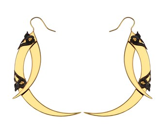 THISTLE THORN / Small Gold Drop Earrings / Free Shipping