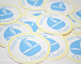 Sailboat Sticker Labels