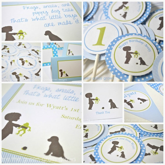 Frog Snail and Puppy Dog Tail Party Package