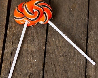 Halloween Swirly Lollipops