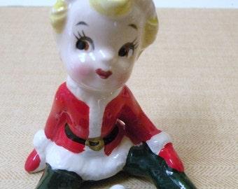 1950s PIXI dressed as Santa Figurine, Made in Japan