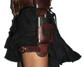 Leather Double Flask Leg Holster