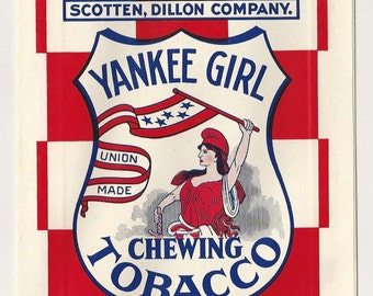 1940s Yankee Girl Chewing Tobacco bag