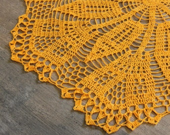 Extra Large Crochet doily, lace doily, linen, eco friendly, crocheted place mat,doily tablecloth, table runner, napkin, Photography prop
