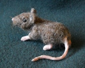 Needle Felted Mouse Shoulder Pet -- Scooter the Field Mouse