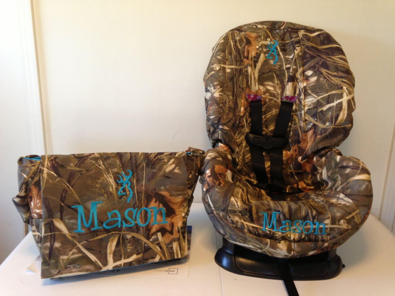 All Camo Toddler Car Seat Cover Amp Diaper Bag Set Max4 Mossy