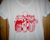 Cats Grow, Cook, Eat, Womens Tshirt