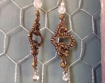 Steampunk sparkle earrings