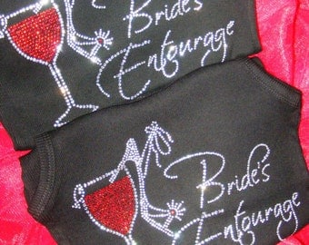 13 Unique Bridesmaid Tank Tops. Crystal Rhinestone Bling Bridesmaid Tanks. Bridesmaid Tank Tops. Wedding Shirts. Team Bride Shirts.