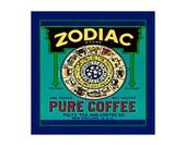 Small Blank Journal - Zodiac Brand Coffee - Fruit Crate Art Print Cover