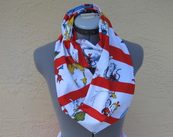 The Cat in the hat Infinity Scarf - Ready to ship