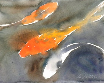 Koi Fish No.1, limited edition of 50 fine art giclee prints