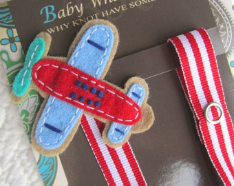 Baby Boy Pacifier Clip, Airplane Pacifier Clip, Baby Plane Pacifier Clip, Pacifier Holder, pcplane04