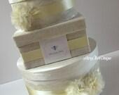Rustic Wedding Card Box Burlap and Lace Money Card Holder Custom Made