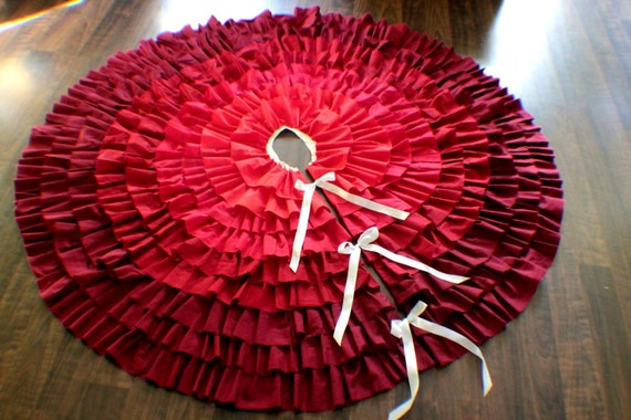 Ombre holiday tree skirt
