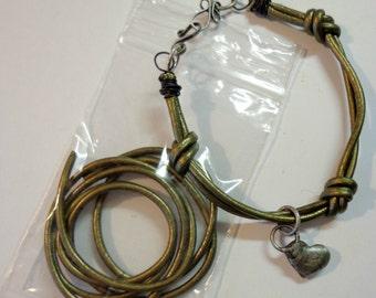 2 Ft of Metallic Gauriya Leather Cord