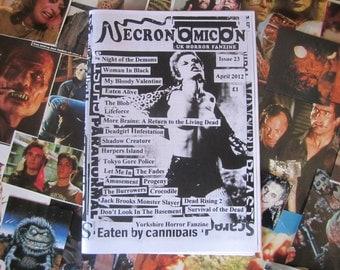 NECRONOMICON 23 UK horror fanzine zine April 2012 retro 80's dead demons films movies