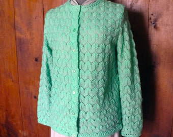 Lovely Vintage Mint Cardigan