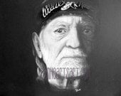 Willie Nelson portrait print